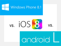 iOS 8 vs. Android L vs. Windows Phone 8.1